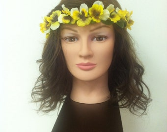 Small Yellow Flower Crown