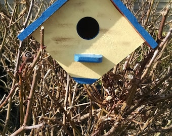 Birdhouse, Painted Birdhouse, Personalized Gift, Hand painted Birdhouse, Hand painted Gift
