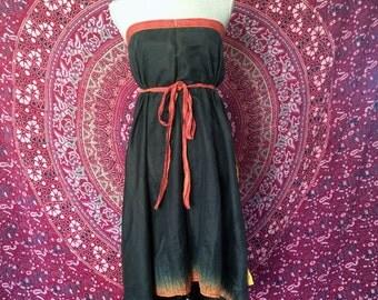 Sativa Wraps - Reversible 2 Layer, Hippie Wrap Skirt, Boho, Gypsy Skirt, Bohemian, Festival Skirt, Upcycled, Hippie Skirt, Bohemian, Wrap