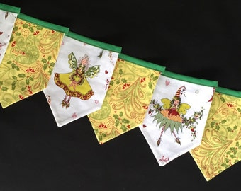 Christmas Fairy Bunting / Flag / Wall Hanging / Fairy garland / 1.9m