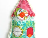 FABRIC House Hanging Decoration / Home Sweet Home / Door Hanger / House Warming Gift / Shelf Sitter / New Home / Christmas Gift For Her