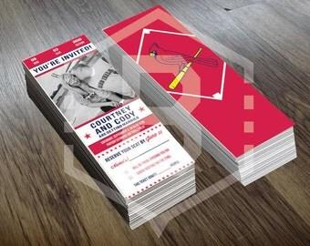 Custom Baseball Ticket Invites - Choose Your Team