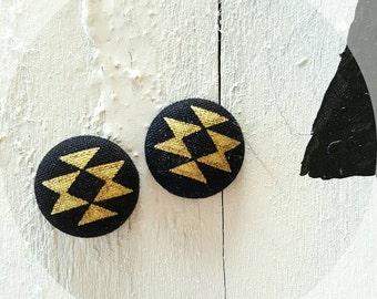 Golden Tribal Earrings