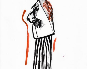 Original Fashion Illustration A3