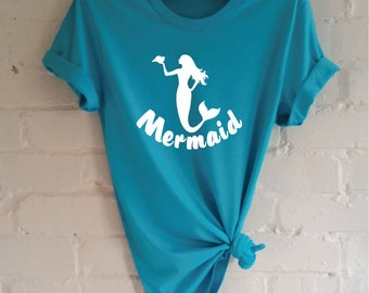 Mermaid T-Shirt. Mermaid Shirt. Be A Mermaid. I'm Really A Mermaid. Swim With Mermaids. Mermaid Life.