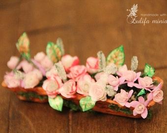 Dollhouse miniatures 12th scale Flowers in a pot 1:12 Lati Yellow\Irrealdoll\Pukifee\Aquarius doll Dollhouse miniature furnitures TO ORDER