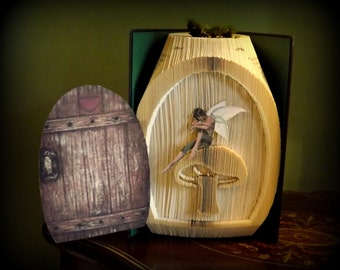Fairy house/Door cut and fold combi Book folding pattern
