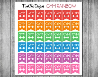 Mini Gym Flag Planner Stickers - Multiple Color Options