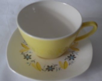 "1950s Midwinter ""Seville"" Coffee cup and saucer set.  Retro coffee cup and saucer cup and saucer."