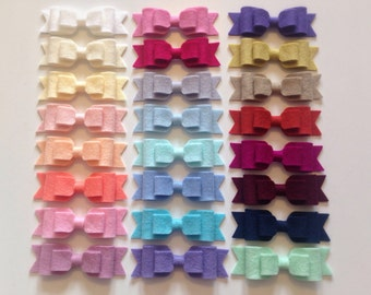 Felt bow hair clip - 100% wool felt, accessories, girls hair clips