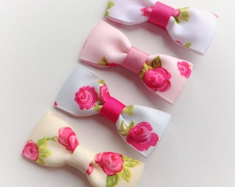 Vintage rose hair clip (choice of colour) alligator clips, toddler hair clips, flower