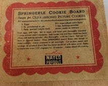 Mid century Nayco German solid wood Springerle cookie board .