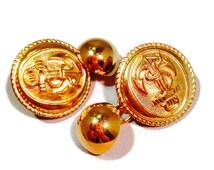Button cuff links. Brass cuff links. Vintage cuff links. Retro cuff links. Men's accessories. Handmade accessories. Nautical. Gift for men.