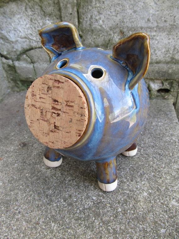 Seconds sale handmade coin bank handmade piggy bank ceramic for Handmade coin bank