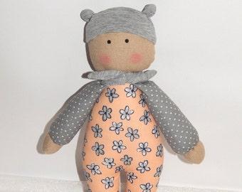 Baby's First Doll, Baby Doll, Organic Soft Toy, Rag doll, Doll for baby, Fabric soft doll, Eco friendly, nursery decor