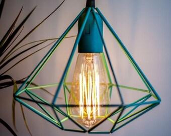 Himmeli Diamond Geometric Lamp: Turquoise (Special edition)