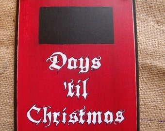 Hand Painted Christmas Chalkboard Countdown.