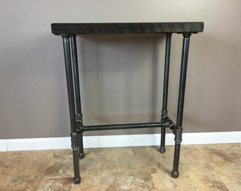 Entry Table, Hallway Table, Nook Table, Reclaimed Wood Table, Wood Table, Pipe Table, Reclaimed Wood