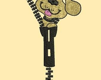 Machine embroidery design toy Dog  zipper , Bear for children , design instant download