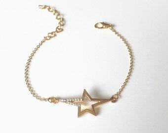 Star Bracelet, CZ Star Bracelet, Simple, Delicate