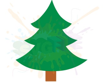 Christmas Tree SVG Files for Cutting Cricut Designs - SVG Files for Silhouette - Instant Download