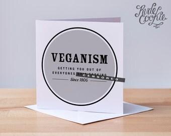 Funny Vegan Card, Veganism Card, Happy Veganversary, Rude Vegan Card, Naughty Vegan Card, Humour, Card For Him, Card For Her, Just Because