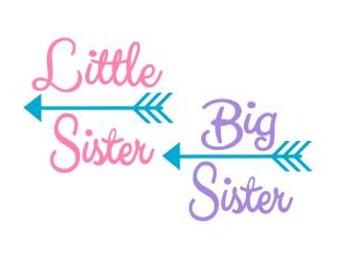 Big Sister/Little Sister; SVG, Studio 3, DXF, Ps, Ai and Pdf Digital Files