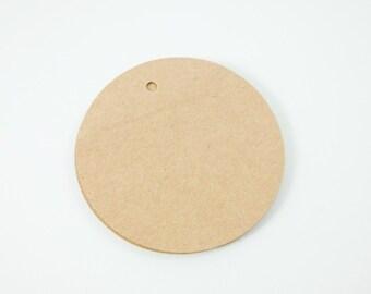 50 Kraft Circle Tags - 2.25 inch