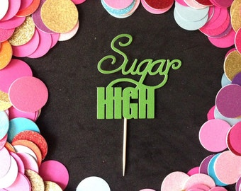12pcs Sugat High Glitter Cupcake Toppers ( More Color )