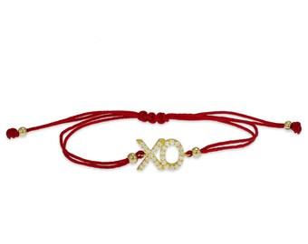 XO Pendant String Bracelet
