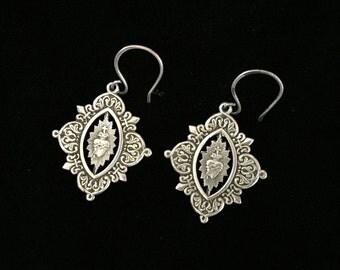 french sacred heart earrings