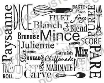12x15 Cutting Board Culinary Cooking Kitchen SVG File Cricut Silouette