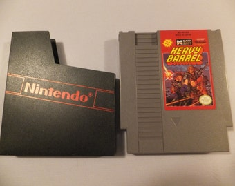 Heavy Barrel Original NES Nintendo Vintage Video Game Cartridge