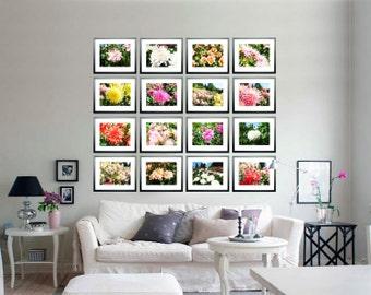 """Fotos von Dahlien Photographie """"Dahlie"""" 16 St. von Ksavera rosa orange gelb grün rot - JPEG bei E-mail"""