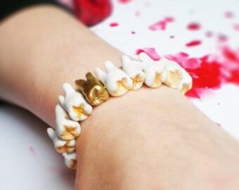 ORIGINAL! Armband aus menschlichen Zähnen