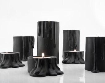 Halloween Decoration, Black Candle Holder, Modern Home Decor