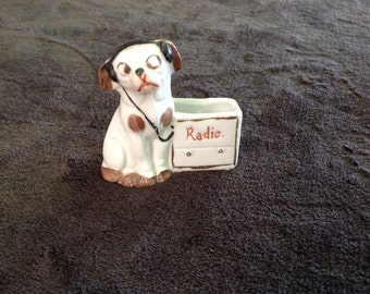 Radio Dog toothpick holder 1920