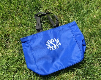 Personalized Tote Bag - Monogrammed or Name - 16 tote colors available - - monogram bag tote