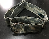 Digital Military Fabric Wrapped Martingale