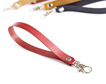 Red Leather Key Holder, Wrist Strap, Leather Keyring, Leather Keychain, Key Fob, Lanyard, Gift For Her, Housewarming Gift, Valentine's Gift