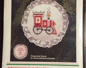 Cross Stitch Train Ornament Kit Wonderart Creative Crafts Christmas Traditions Puffed Ornament for Counted Cross Stitch