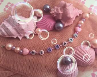 Be A Merbabe * Merbabe * bracelet Pastel pink lilac