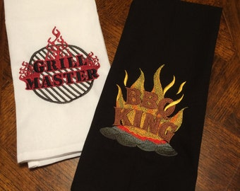 BBQ King-Grill Master Embroidered Towels