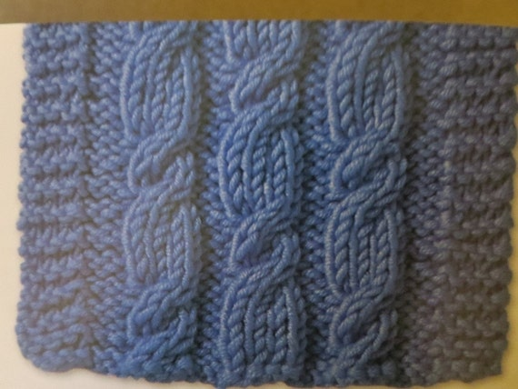 Handmade Knitting Patterns : PATTERN Knit Baby Cabled Blanket Knit afghan Blanket Handmade knitt...