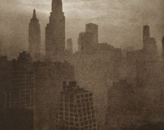 New York City vintage photo print poster NYC antique old photograph Empire State Building New York skyline-PRINT