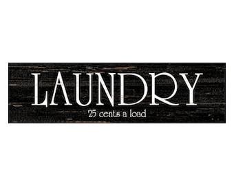 Laundry Sign- Black