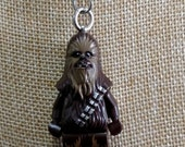 Chewbacca Necklace - (LEGO® Minifigure) - Star Wars, Wookiee, Han Solo, Sidekick, Empire Strikes Back, Return of the Jedi, The Force Awakens