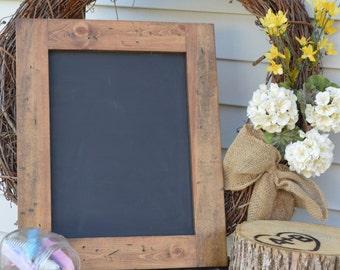 """Chalkboard Frame, Rustic Frame, 19.5"""" x 16"""", Distressed Wooden Frame"""
