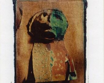 "Polaroid Transfer ""Puppet Angst"" original decorative art Giclee print"