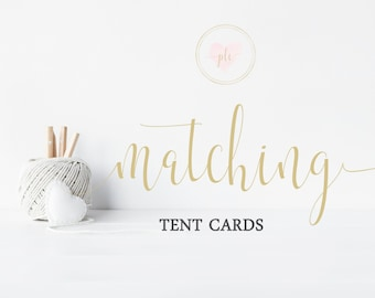 Made To Match Printable Tent Cards - Place Cards - Buffet Labels - You Print - Digital File - Made to Match any exisiting design in my store